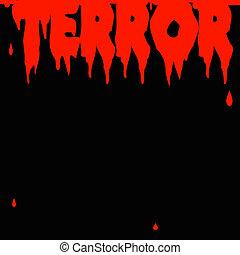 τρόμος , αφίσα
