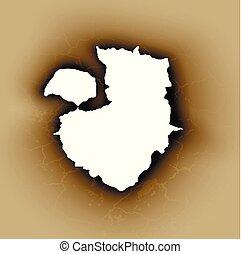 τρύπα , μετοχή του tear , μέσα , ξέσκισα , χαρτί , έκαψα , και , φλόγα