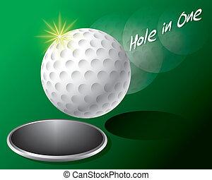τρύπα , μπάλα , γκολφ , άκρη