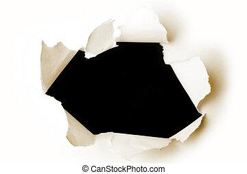 τρύπα , χαρτί