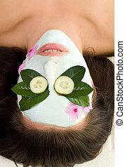 τσάι , αγγούρι , μάσκα , πράσινο , καθησυχαστικός