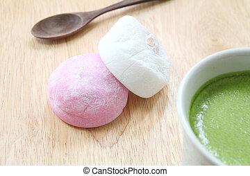 τσάι , πράσινο , mochi
