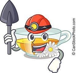 τσάι , σχήμα , ανθρακωρύχος , χαμομήλι , γελοιογραφία