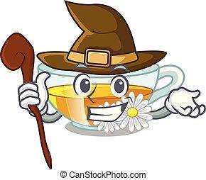τσάι , σχήμα , χαμομήλι , γελοιογραφία , μάγισσα