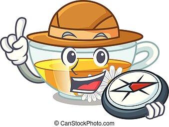 τσάι , σχήμα , χαμομήλι , εξερευνητής , γελοιογραφία