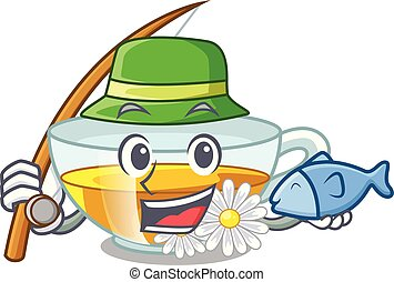 τσάι , σχήμα , χαμομήλι , ψάρεμα , γελοιογραφία