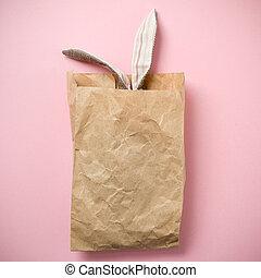 τσάντα , γίνομαι φυσαρμόνικα αξίες , easter κουνελάκι