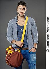 τσάντα , νέοs άντραs