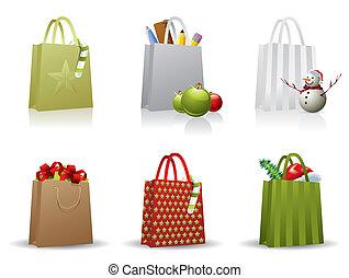 τσάντα , ψώνια , xριστούγεννα