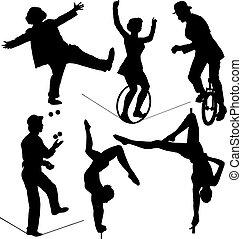 τσίρκο , καλλιτέχνηs