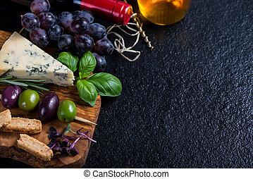 τυρί , αισθημάτων κλπ φόντο , βοτάνι , πίνακας , κρασί