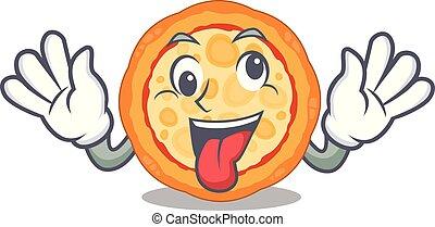 τυρί , τρελός , πίτα με τομάτες και τυρί , χαρακτήρας , πιάτο