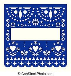 τυρκουάζ , μικροβιοφορέας , μεξικάνικος , μεξικό , πρότυπο , γιορτή , papel, διακόσμηση , χαρτί , φόρμα , picado, γεωμετρικός , λουλούδια , σχεδιάζω , ευτυχισμένος