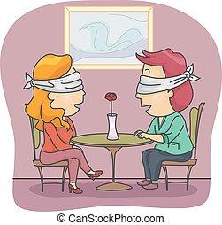 τυφλός βάζω ημερομηνία , ζευγάρι