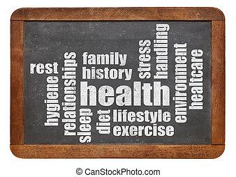 υγεία , λέξη , σύνεφο