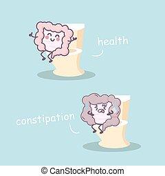 υγεία , vs , έντερο , δυσκοιλιότητα