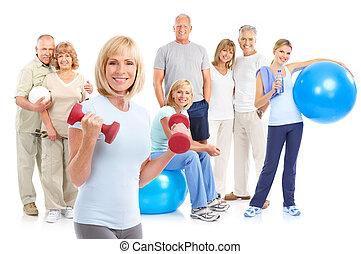 υγιεινός , καταλληλότητα , γυμναστήριο , τρόπος ζωής