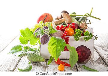 υγιεινός , ξύλινος , λαχανικό , ενόργανος , τραπέζι