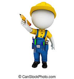 υδραυλικός , 3d , άσπρο , άνθρωποι