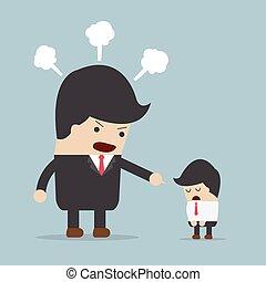 υπάλληλος , θυμωμένος , αφεντικό