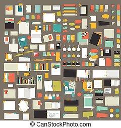 υπενθύμιση , stickers., elements., θέτω , infographics, διαμέρισμα , μεγάλος