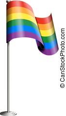 υπερηφάνεια , σημαία , μικροβιοφορέας , εύθυμος