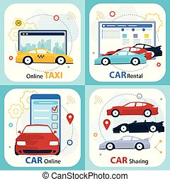 υπηρεσία , ενοίκιο , μοιρασιά , orfdering, αυτοκίνητο , online.
