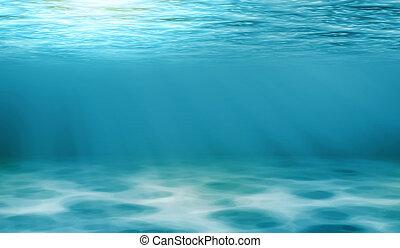 υποβρύχιος , αχανής έκταση αντίκρυσμα του θηράματος