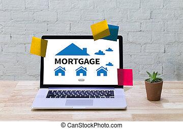 υποθηκεύω , ιδιοκτησία, περιουσία , ακίνητη περιουσία , σπίτι , πληρώνω , δανεικά αμοιβή