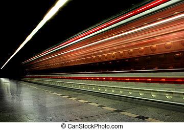 υπόγεια διάβαση , μέσα , ο , πράγα , (transportation, background)