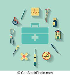 φάρμακο , διαμέρισμα , θέτω , απεικόνιση