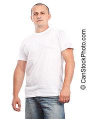 φανελάκι , άσπρο , νέοs άντραs