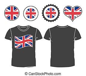 φανελάκι , με , ο , σημαία , από , μεγάλη βρετανία