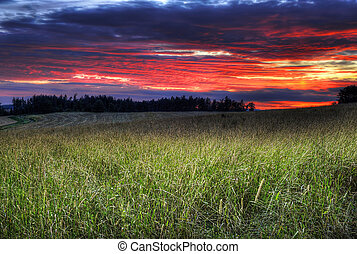 φαντασία , ηλιοβασίλεμα