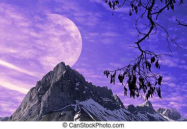 φαντασία , φεγγάρι