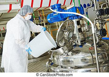 φαρμακευτικός βιομηχανία , εργάτης