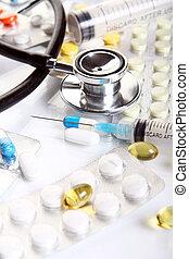 φαρμακευτικός , διαφορετικός , ανοησίες , στηθοσκόπιο