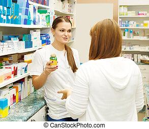 φαρμακοποιός , εισηγούμαι , ιατρικός , ναρκωτικό , να , αγοραστής