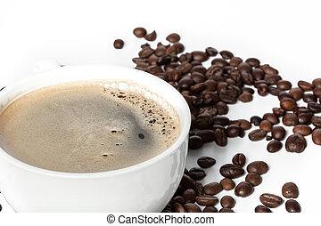 φασόλια , κύπελο , καφέs , ψήνομαι , μαύρο , άσπρο