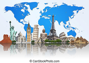 φημισμένος , κόσμοs , εικόνα , μνημείο
