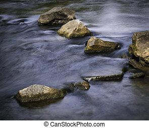 φθινόπωρο , ατάραχα , ποτάμι , με , βγάζω τα κουκούτσια