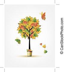 φθινόπωρο , δέντρο , σχεδιάζω , δικό σου
