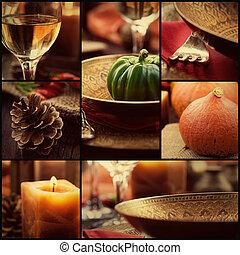 φθινόπωρο , κολάζ , γεύμα
