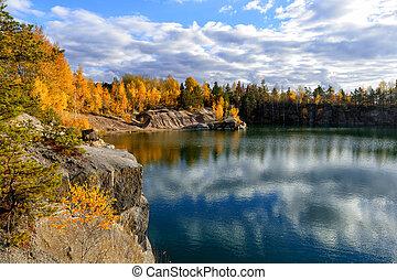 φθινόπωρο , μπογιά , λίμνη