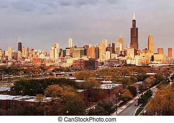 φθινόπωρο , πανόραμα , σικάγο