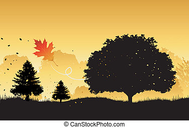 φθινόπωρο , φόντο