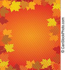 φθινόπωρο φύλλο , οικότροφος , έκφραση ευχαριστίων