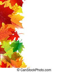 φθινόπωρο φύλλο , σύνορο