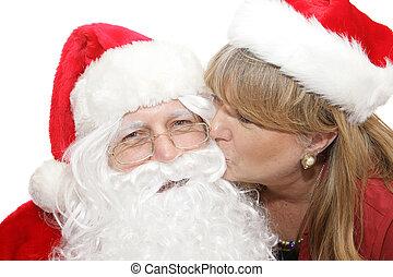 φιλί , για , santa