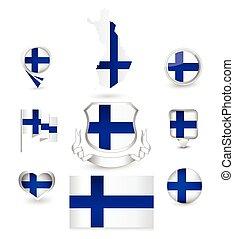 φινλανδία , συλλογή , σημαία